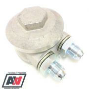 Mocal Take Off Sandwich Plate For Remote Oil Filter Head 3/4 Thread & AN 8